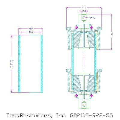 GD2105-922 ASTM D2105 Test Fixture