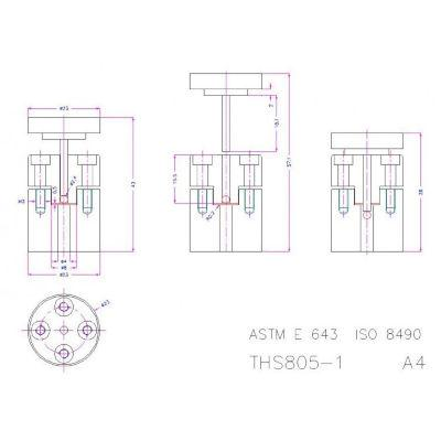GE643-805 ASTM E643 Test Fixture