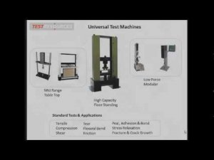 How to Configure a Universal Test Machine